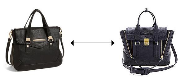Đâu là mẫu túi gắn mác 3.1 Phillip Lim, được bán ở mức 825 USD, trong khi chiếc kia chỉ có giá 88 USD?>> Xem đáp án