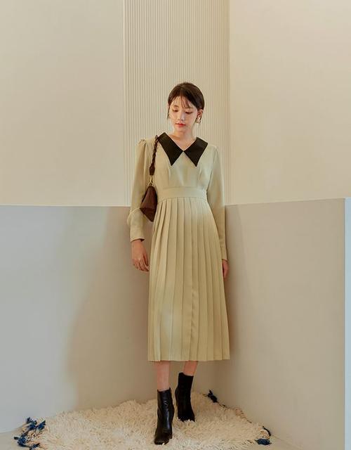 Váy liền thân dáng cổ điển dành cho các nàng yêu màu đơn sắc.