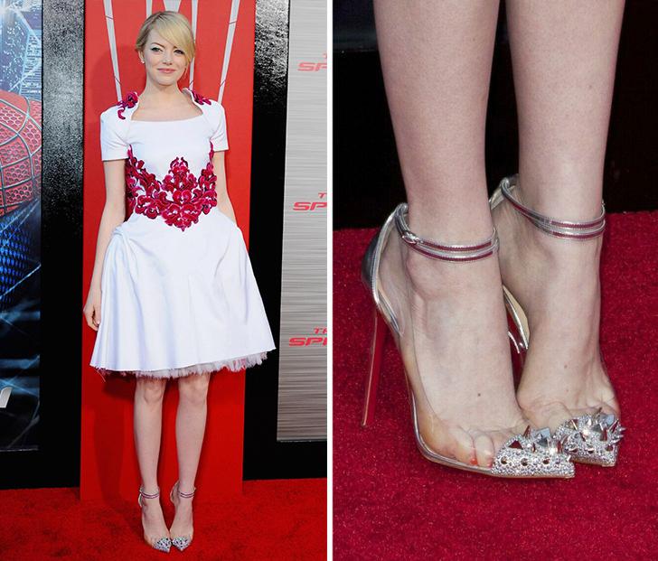 Giày mũi nhọn Nhiều người gọi giày cao gót là phát minh vĩ đại dành cho phụ nữ bởi chúng giúp đôi chân trông dài hơn, vóc dáng thêm hấp dẫn, nhưng tác hại của chúng cũng lớn hơn bạn nghĩ. Liên tục sử dụng loại giày này có thể gây bong gân, móng chân mọc ngược, tổn thương dây thần kinh và đau lưng dưới.  Đặc biệt, không gian chật hẹp bên trong giày mũi nhọn khiến các ngón chân bị ép lại ở vị trí không tự nhiên, dẫn đến vết chai và tổn thương dây thần kinh giữa các ngón chân.