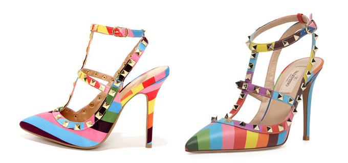 Mẫu giày nào là sáng tạo của nhà mốt Valentino?>> Xem đáp án