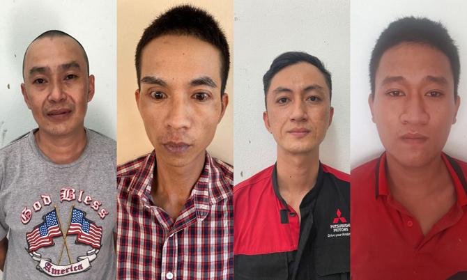 Từ trái qua Chữ Quang Minh, Ngô Trường Thông, Nguyễn Thanh Hải, Nguyễn Văn Vĩnh Trường. Ảnh: Sơn Thủy.