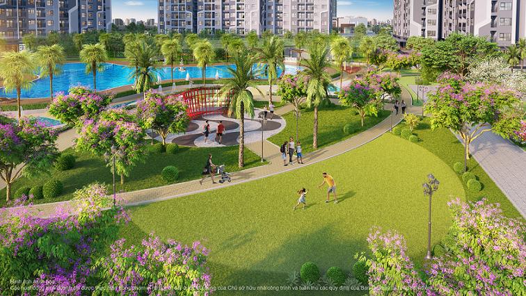 Không gian phân khu The Miami mang đến trải nghiệm đậm chất sống nghỉ dưỡng.