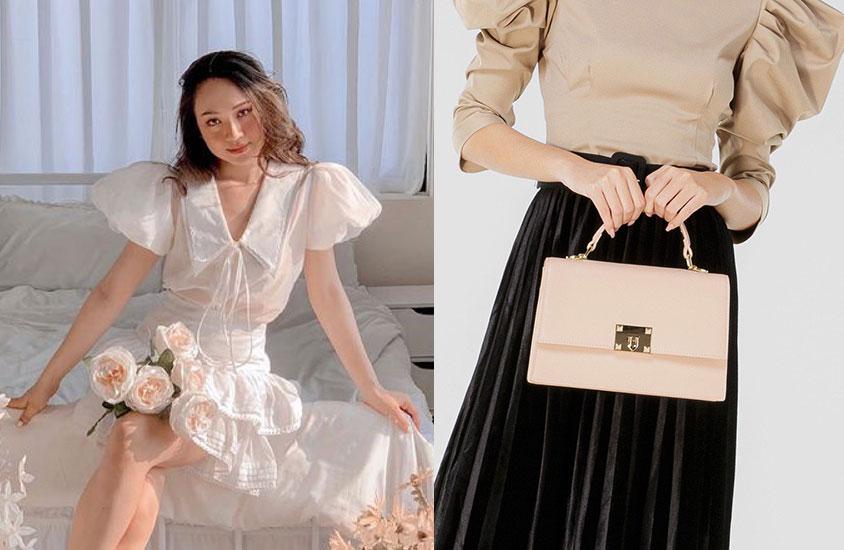 Lifestyle blogger Hạnh Chip giới thiệu mẫu túi top handle TXT223 của Juno tới các bạn gái yêu thích gam màu nhã nhặn, sự đơn giản.