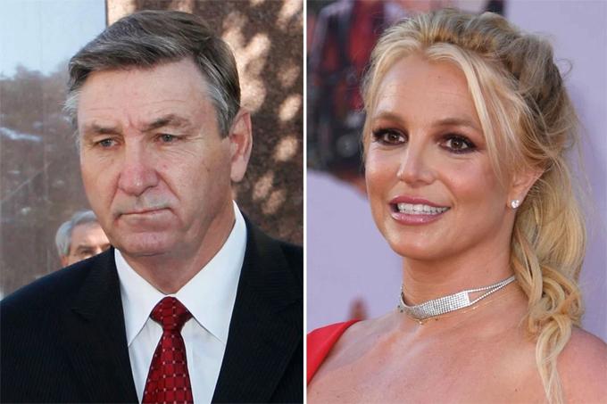Ông Jamie Spears và ca sĩ Britney Spears. Ảnh: AFP
