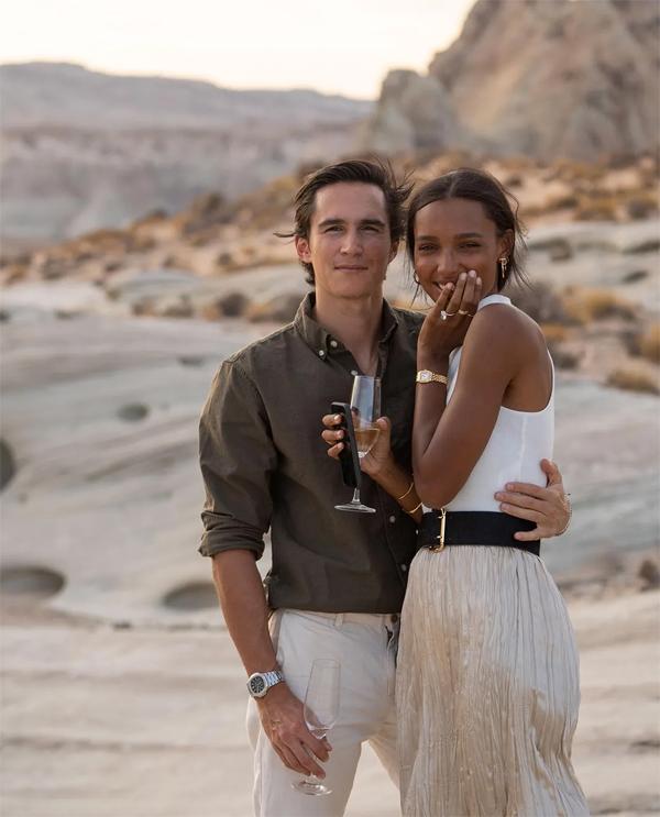 Jasmine Tookes hạnh phúc khi được bạn trai cầu hôn vào tháng 9 năm ngoái. Ảnh: Instagram