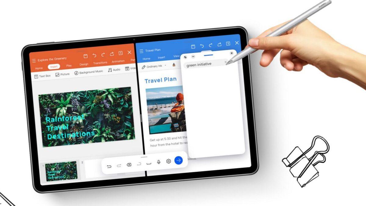 M-Pencil thế hệ 2 và máy tính bảng có thể sạc song song khi đặt cạnh nhau.