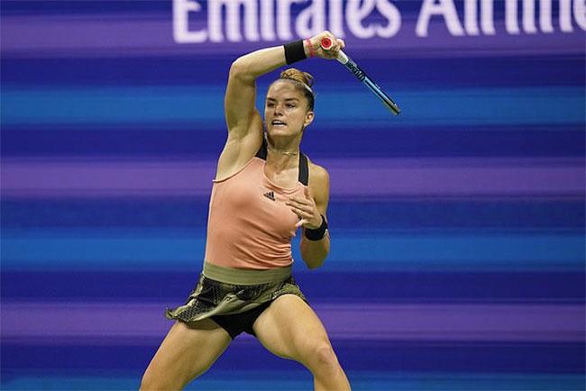 Maria Sakkari lần thứ hai lọt vào bán kết một giải Grand Slam năm nay. Ảnh: AP