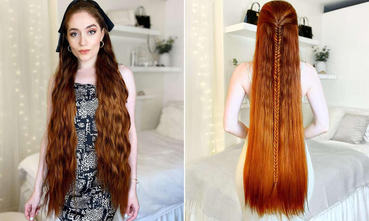 Jasmine Larsen không cắt <a href='https://www.thegioitoc.top' target='_blank'>tóc</a> trong suốt 5 năm.