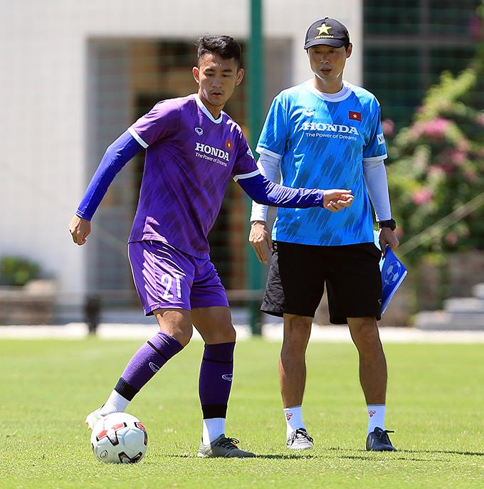 Tiền đạo Lê Xuân Tú - một trong 5 cầu thủ U22 được triệu tập bổ sung lên tuyển Việt Nam. Ảnh: VFF