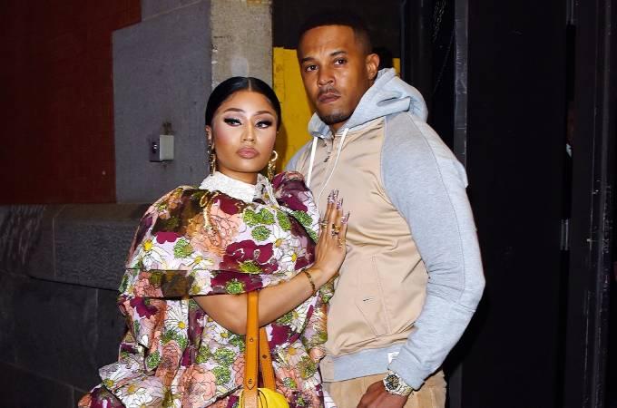 Nicki Minaj và chồng, Kenneth Petty. Ảnh: GC