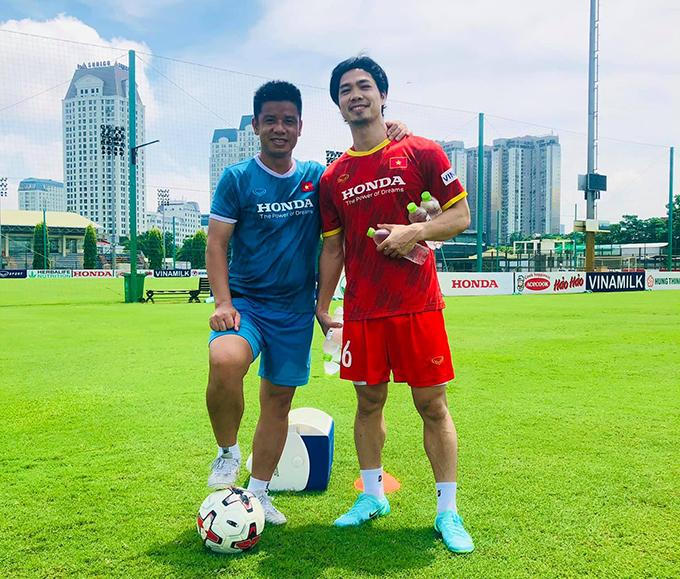 Công Phượng tập luyện cùng U22 Việt Nam khi ra Hà Nội tập trung đội tuyển. Ảnh: Lưu Danh Minh