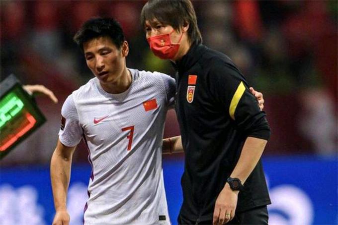 Wu Lei - cầu thủ đang chơi bóng ở La Liga cho CLB Espanyol gây thất vọng khi chưa ghi được bàn thắng nào cho đội tuyển Trung Quốc sau hai trận đầu tiên ở vòng loại thứ ba World Cup 2022. Ảnh: Sina