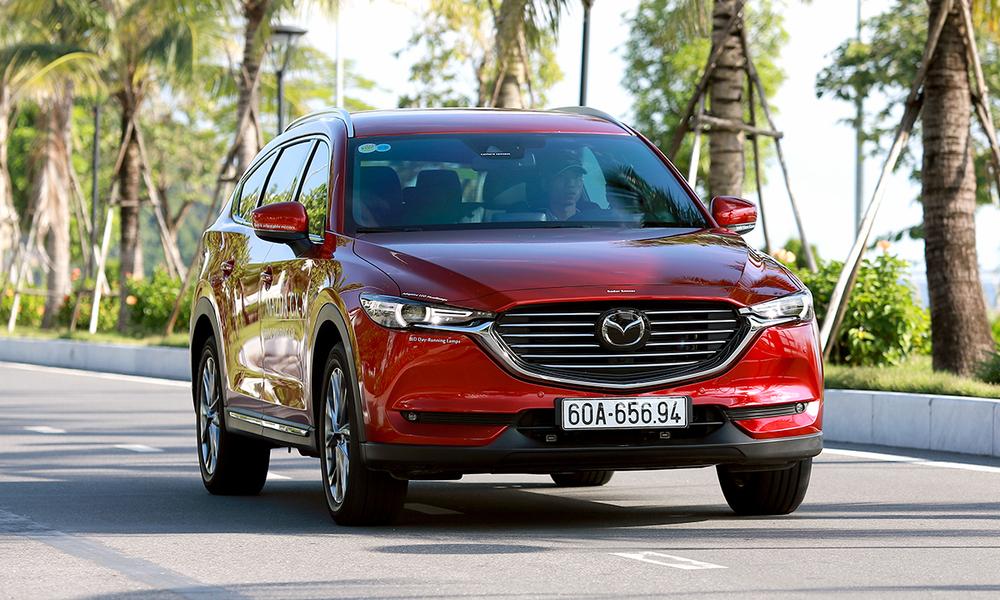 Mazda CX-8 tại Quảng Ninh. Ảnh: Lương Dũng