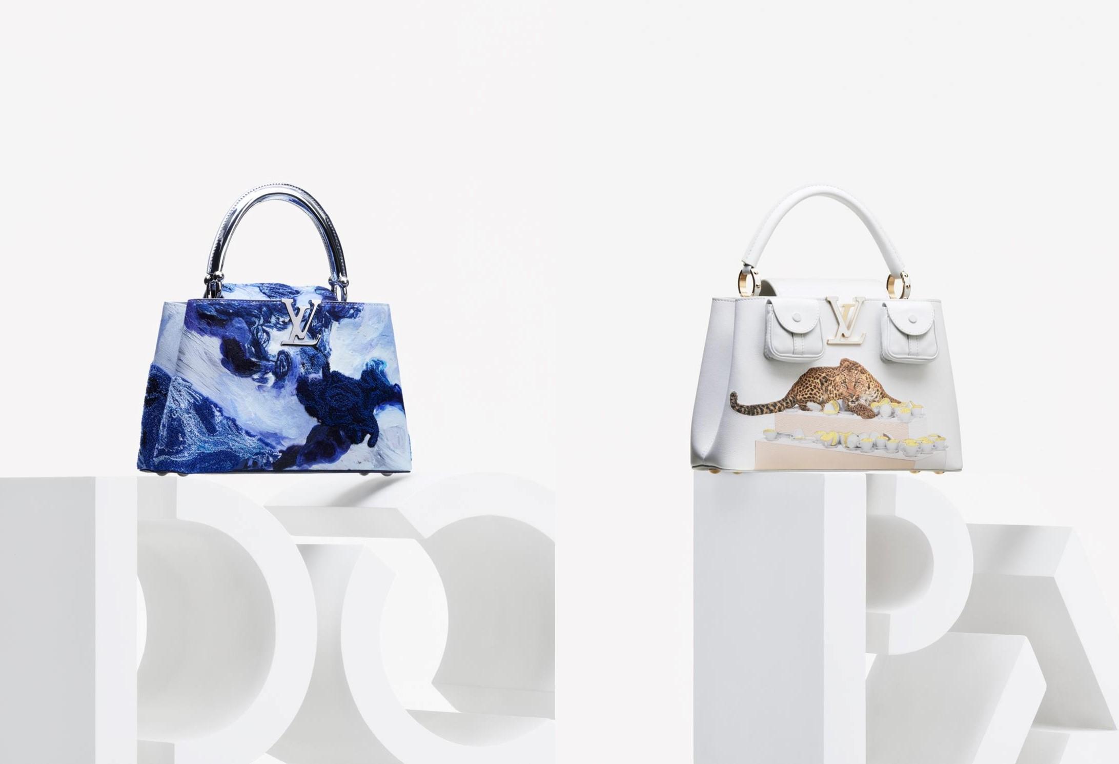 Túi Capucines trong hai phiên bản của Donna Huanca và Paola Pivi. Ảnh: Louis Vuitton