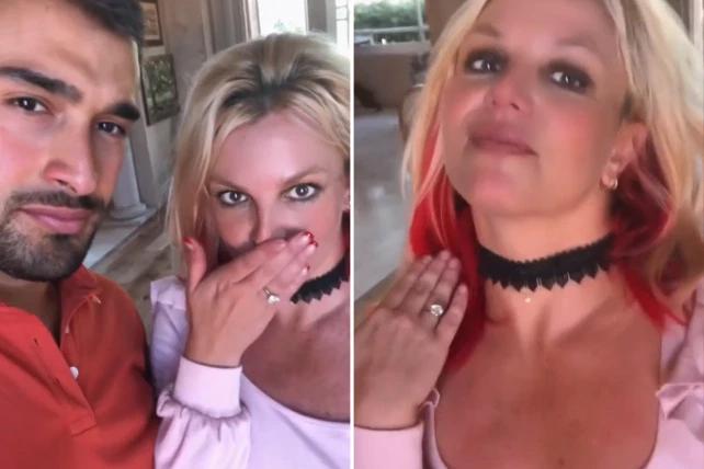 Britney xúc động khoe tin vui đính hôn.