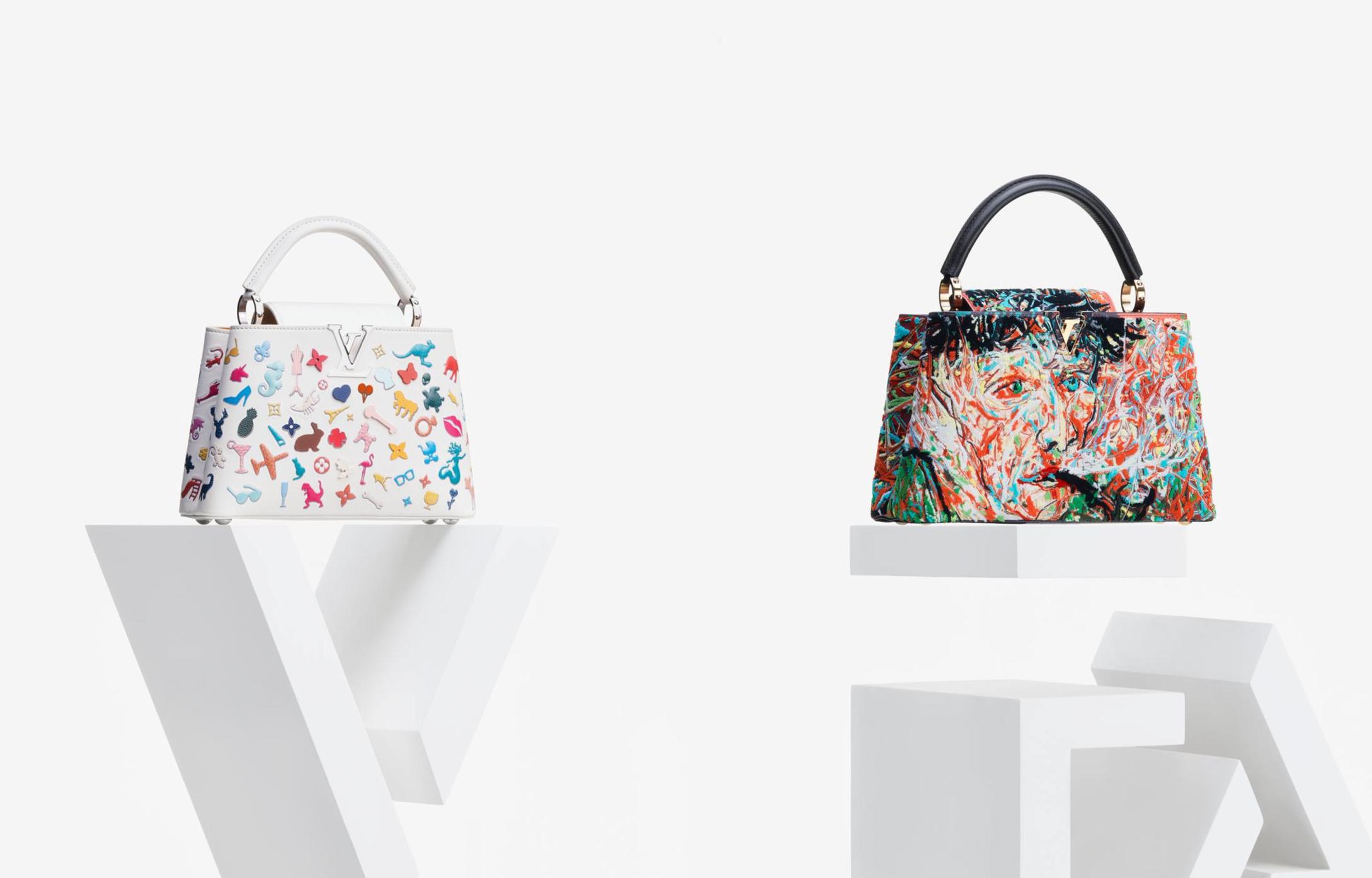 Vik Muniz và Zeng Fanzhi mang đến hai thiết kế mang đậm hơi thở nghệ thuật. Ảnh: Louis Vuitton