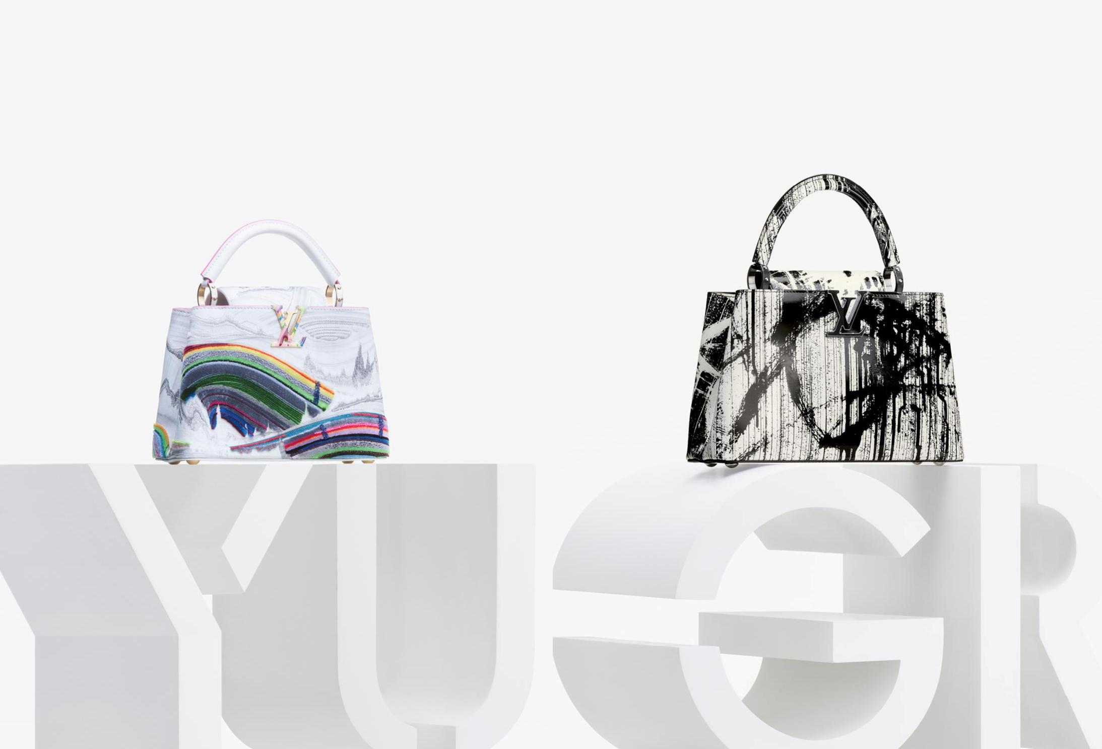 Hai thiết kế ấn tượng đến từ Huang Yuxing và Gregor Hildebrandt. Ảnh: Louis Vuitton