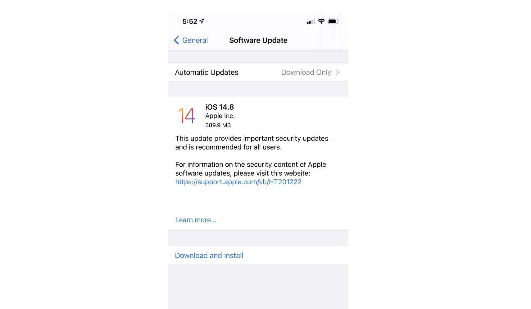 Thông tin về bản cập nhật mới cho iPhone.