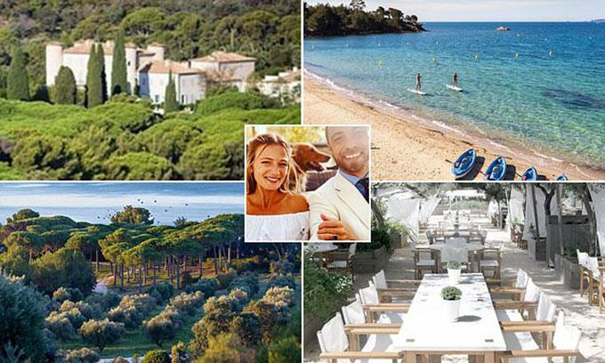 Khung cảnh xung quanh và bên trong lâu đài Chateau Leoube, nơi James Middleton tổ chức tiệc cưới với hôn thê Alizee. Ảnh: Instagram