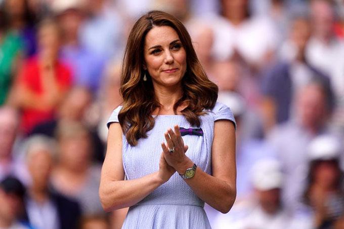 Kate Middleton đi xem trận chung kết Wimbledon năm 2019. Ảnh: PA