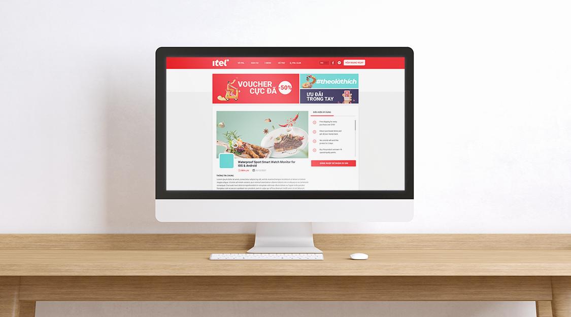 Khách hàng có thể sử dụng điểm thưởng iTel Club để đổi các món quà yêu thích trên website của iTel.