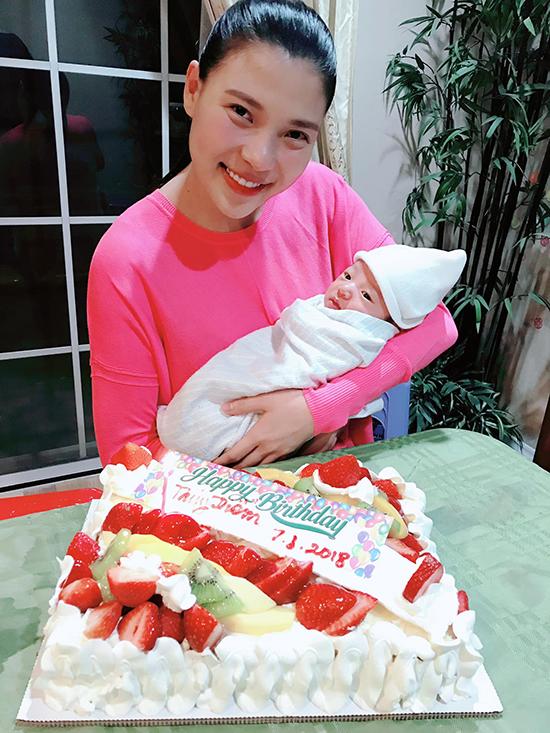 Sau khi sinh con trai đầu lòng, Thuý Diễm cho bé bú hoàn toàn bằng sữa mẹ. Con đầu lòng của vợ chồng nữ diễn viên chào đời ngày 26/7/2018, được bố mẹ đặt tên là Lương Thế Bảo, tên ở nhà là Bảo Bảo và tên tiếng Anh là Brendan.