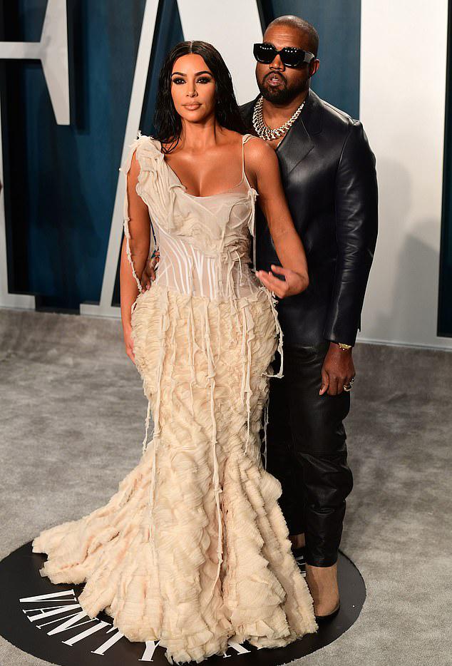 Kim và Kanye. Ảnh: PA