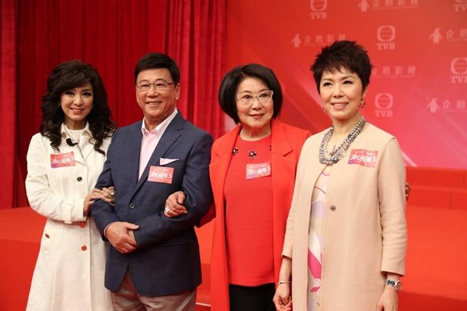 Bốn diễn viên chính của Gia Hảo Nguyệt Viên (từ trái qua): Mễ Tuyết, Hạ Vũ, Lý Tư Kỳ, Quan Cúc Anh. Ảnh: TVB