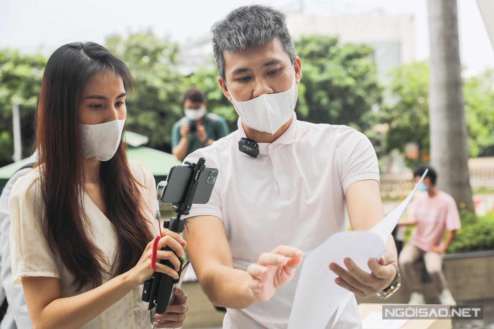 Vợ chồng Thủy Tiên làm rõ các vấn đề khúc mắc liên quan tiền từ thiện. Ảnh: Trần Quỳnh