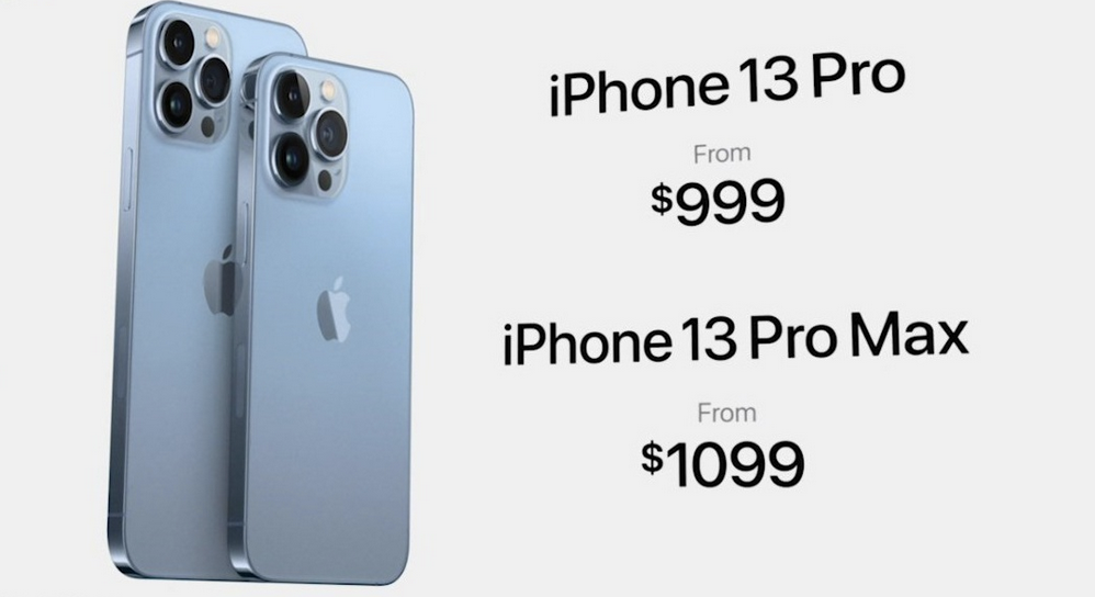 Giá Apple iPhone 13 Pro và 13 Pro Max.