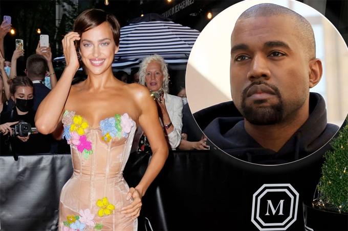 Irina Shayk và Kanye West. Ảnh: GC