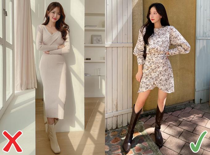 Nếu mua sắm online, thay vì váy dệt kim ôm sát, bạn có thể chọn những thiết kế váy hoa nhí nhẹ nhàng, có điểm nhấn ở vòng eo, trông hợp mốt mà không hề kén dáng.