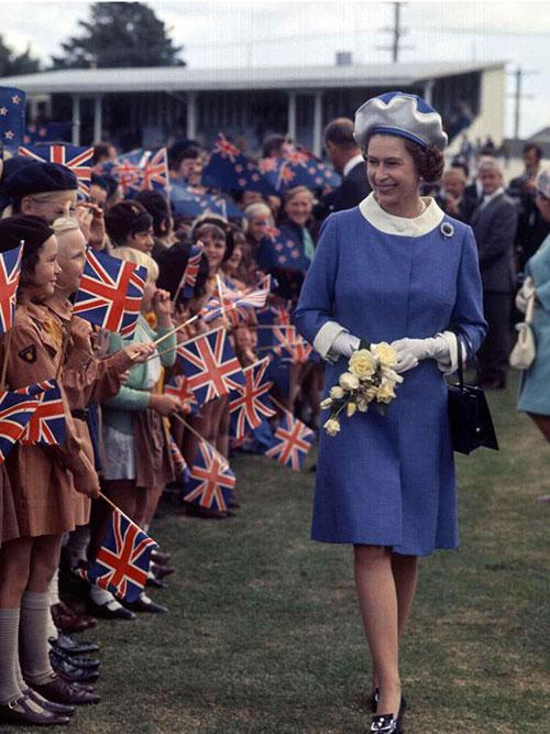 Nữ hoàng thăm New Zealand vào năm 1981. Ảnh: @ProRoyalFamily