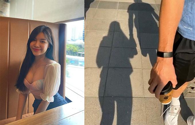 Yến Xuân đăng ảnh cùng Văn Lâm nắm tay nhau đi dạo để động viên anh sớm vượt qua chấn thương. Ảnh: Instagram Yến Xuân