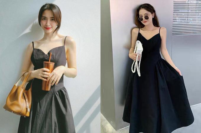 Nhiều người hâm mộ bất ngờ khi biết thiết kế hai dây có thể ứng dụng cả khi ra phố và đi tiệc của Hòa Minzy có giá chỉ 215.000 đồng. Chiếc váy giúp người đẹp khoe xương quai xanh mảnh mai. Nhờ phong thái, Hòa Minzy được nhận xét mặc đẹp hơn người mẫu trên mạng.
