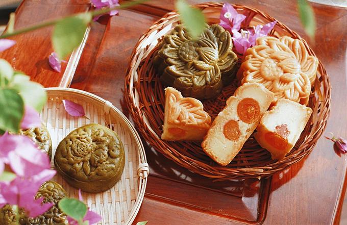 Bánh Trung thu do Hà Anh làm.