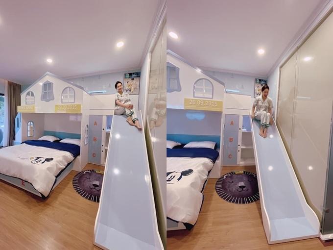 Những khoảnh khắc vui của Nhật Kim Anh trong căn phòng dành tặng con trai.