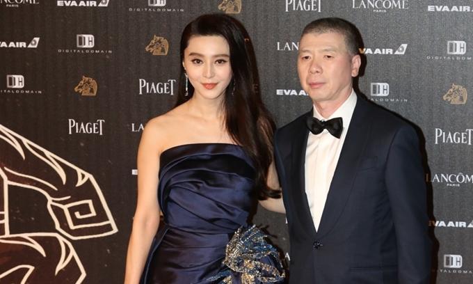 Phạm Băng Băng và đạo diễn Phùng Tiểu Cương - tác giả phim Điện thoại di động. Ảnh: Qingyaju