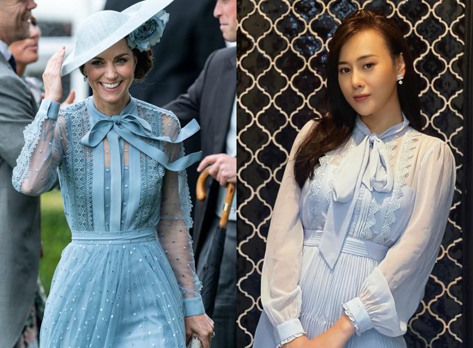 Để sở hữu chiếc váy trang nhã, Phương Oanh đặt hàng từ Anh với giá 11.900.000 đồng. Diện mạo xinh đẹp, dịu dàng của cô được nhiều người hâm mộ khen ngợi.