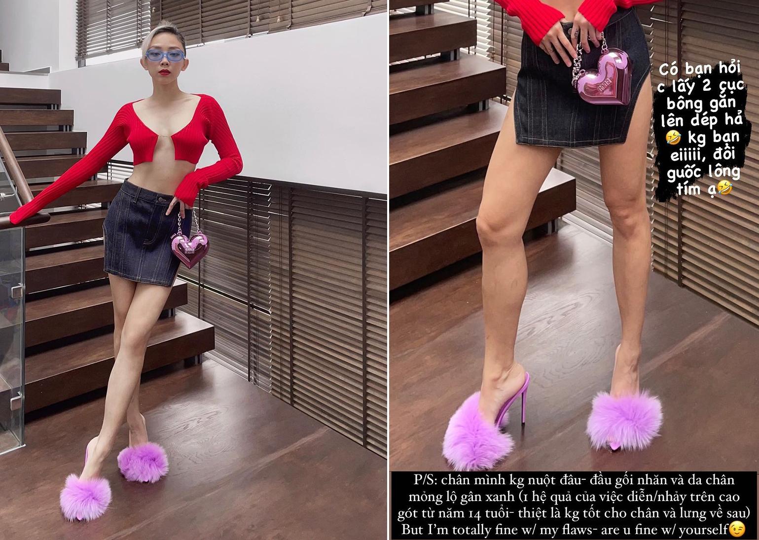 Tóc Tiên chỉ tác hại khi đi giày cao gót nhiều