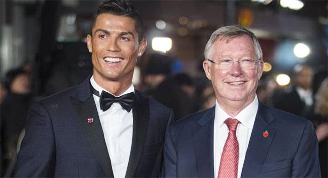 Sir Alex và học trò cưng một thời C. Ronaldo. Ảnh: AFP