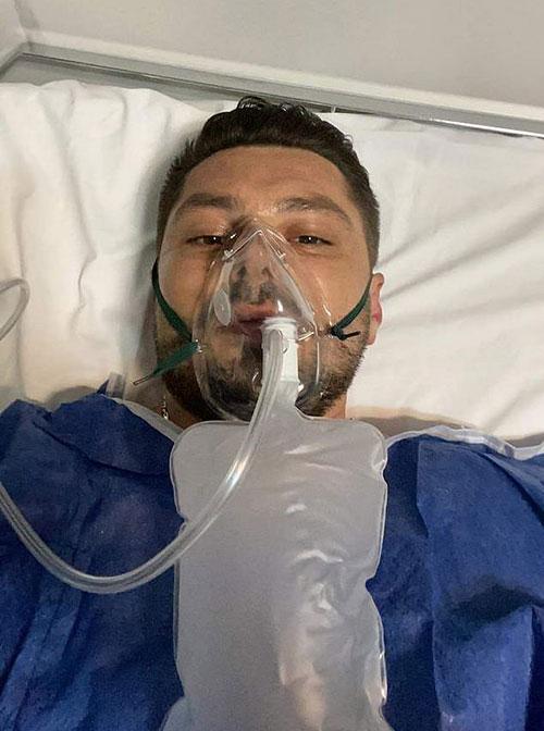 Chú rể Liviu Filimon nằm viện ở thành phố Oradea sau tai nạn tại đám cưới hôm 17/9. Ảnh: CEN