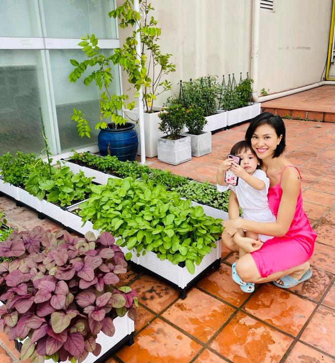 Từ khi TP HCM có các lệnh giãn cách xã hội, Phương Mai bắt đầu làm quen với việc trồng trọt để bớt căng thẳng ở nhà chung cư. Sau khoảng 3 tháng chăm bẵm liên tục, vườn nhà bắt đầu cho ra nhiều rau trái đến mức chính cô cũng ngạc nhiên.