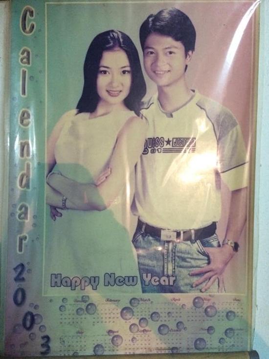 Nguyễn Thị Huyền sinh năm 1985, trở thành Hoa hậu Việt Nam 2004 và từ đó nổi tiếng với vẻ đẹp phúc hậu, tròn đầy. Chia sẻ bức ảnh chụp đầu năm 2003 cùng anh trai người đẹp gốc Hải Phòng được nhiều người khen đẹp tự nhiên và rực rỡ từ khi chưa đăng quang.