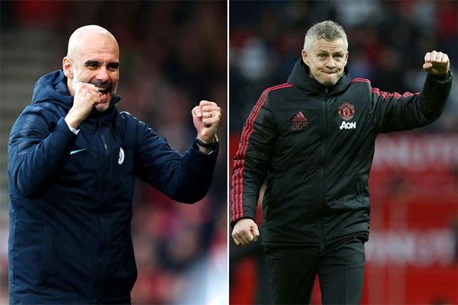 Fan của Man City và MU mong muốn HLV Julian Nagelsmann sẽ thay thế HLV Guardiola (trái) và Solskjaer. Ảnh: Manchestereveningnews
