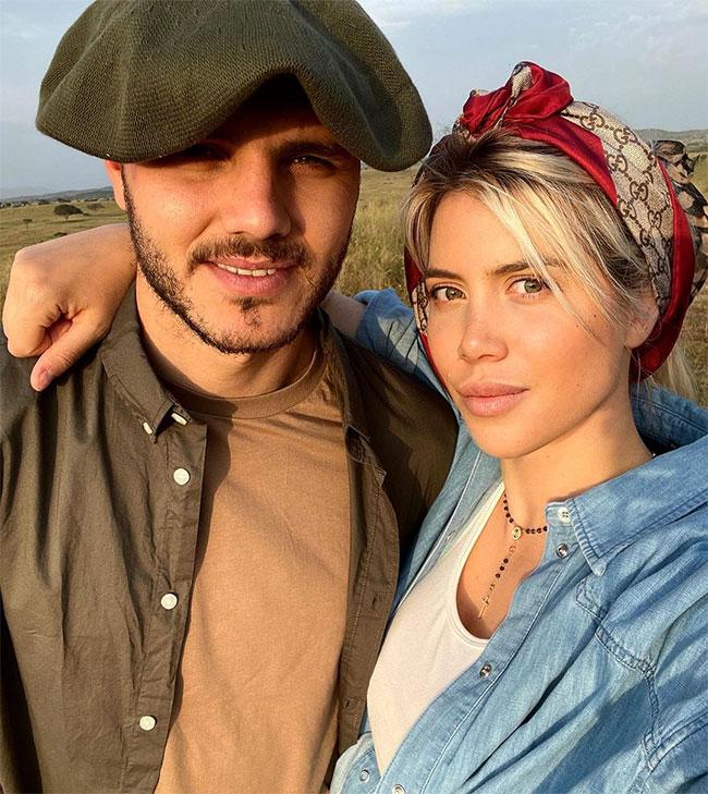 Vợ chồng Mauro Icardi bên nhau gần 10 năm nay bất chấp điều tiếng. Ảnh: Instagram