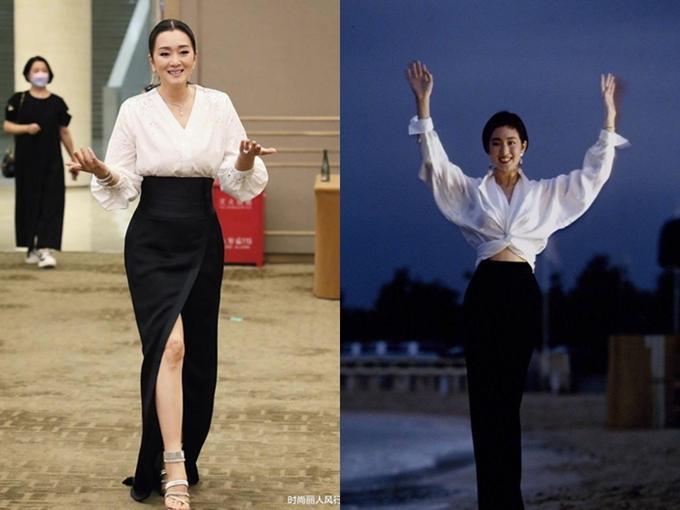 Phong thái điềm nhiên và phóng khoáng của Củng Lợi trên thảm đỏ gợi nhắc hình ảnh của chính cô tại LHP Bắc Kinh năm 1993. Tờ Sina nhận xét minh tinh trẻ so với tuổi 55 và đẹp mặn mà hơn chính mình của 28 năm trước.