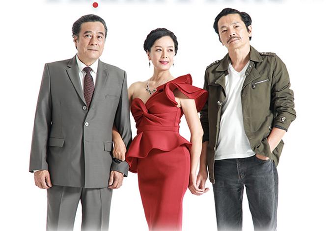 Bộ ba diễn viên gạo cội của phim - NSND Mạnh Cường, NSƯT Chiều Xuân, NSND Trung Anh (từ trái sang). Ảnh: SCTV6