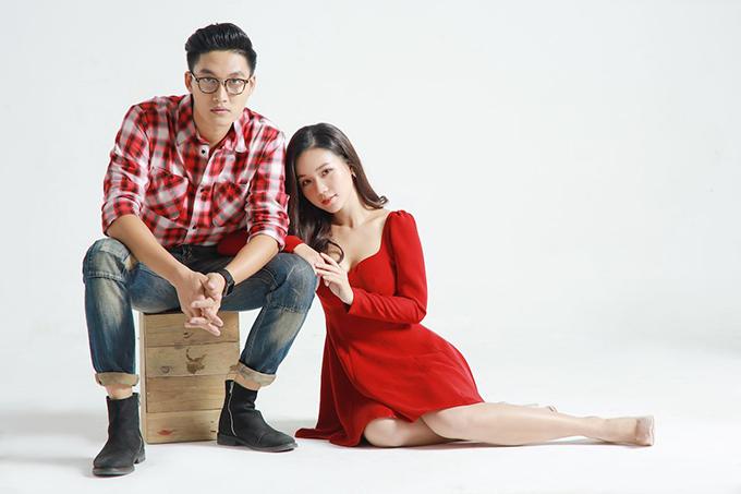Tạo hình của Đình Tú và Phạm Ngọc Anh trong Mặt nạ hạnh phúc. Ảnh: SCTV6