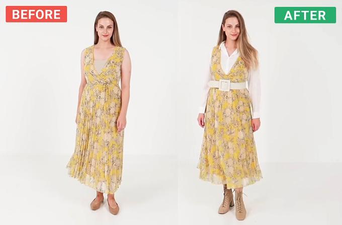 Đủ cách mix một chiếc váy hè cho mùa thu - 1